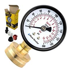 Flow Doctor Water Pressure Gauge Kit